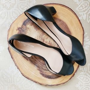 Naturalizer | Sandals Peep Toe Leather Slip-In